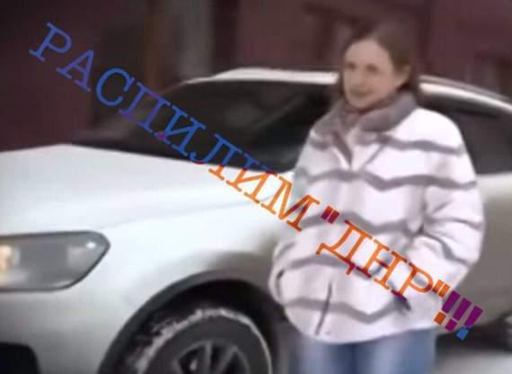 Жена главного боевика пилит гуманитарку в ДНР!!!