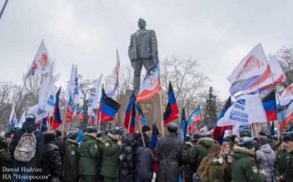 В «ДНР» провели постановочный митинг