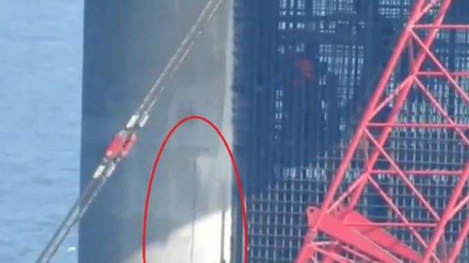 Рассыпается на глазах: треснула одна из опор Крымского моста – ФОТО
