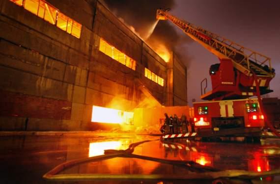 В Луганске горит Электромашиностроительный Завод
