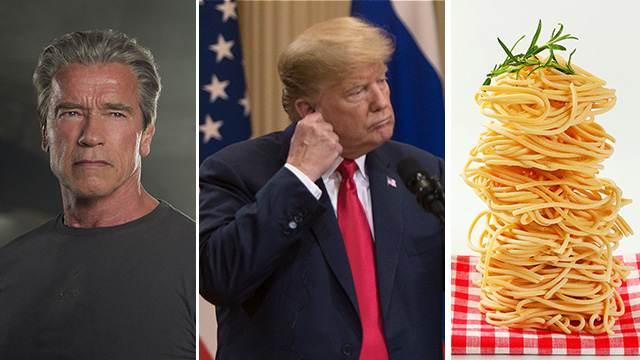 Шварценеггер назвал Трампа «wet noodle». Дословный перевод — мокрая лапша,