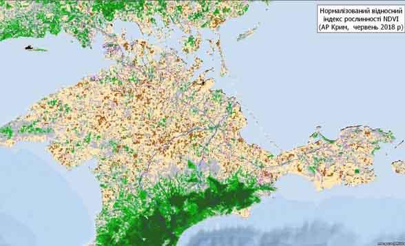 «Вмираючий» від посухи Крим показали з космосу