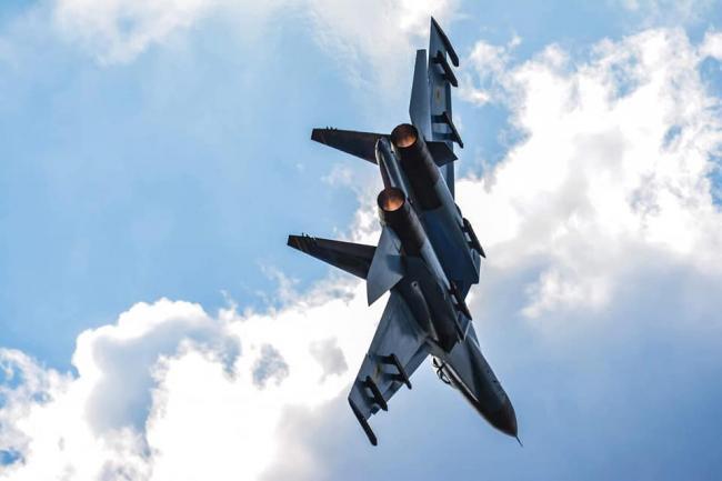 Выступление украинского СУ-27 на авиашоу в Британии стало одним из самых ярких. ФОТО