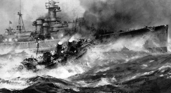 Британский эсминец«Глоуворм» против немецкого крейсера«Хиппер»