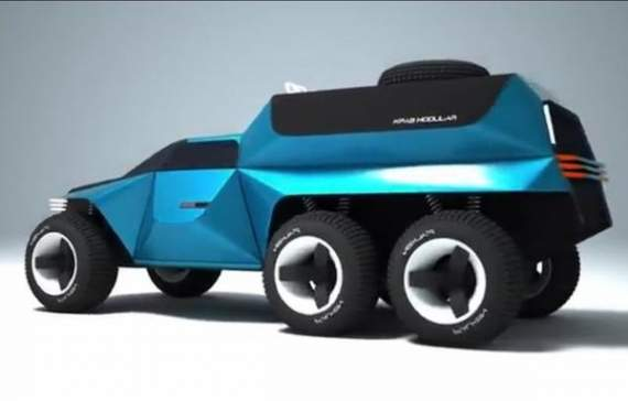Украинский юноша разработал автомобиль будущего. ФОТО