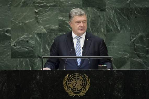 Президент во время выстулпения в ООН призвал ввести миротворцев на Донбасс