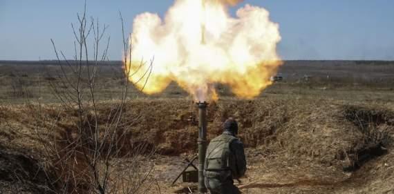 Боевики обстреливали из минометов позиции ВСУ в Водяном
