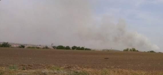 В районе Горловки тяжелый бой, видны пожары