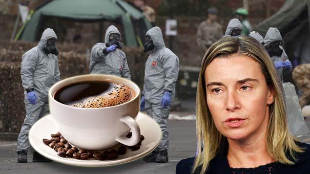 Могерини настойчиво отказалась чашечки кофе из рук российского дипломата (видео)