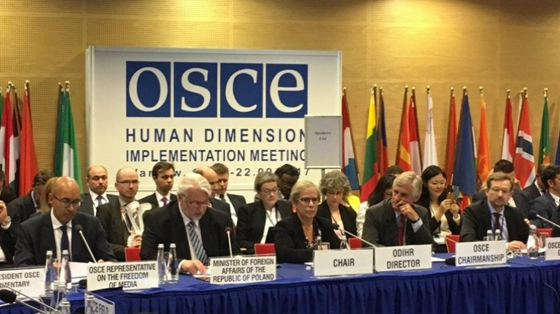 На конференции ОБСЕ прокремлевским «журналистам» из Крыма отключили микрофон