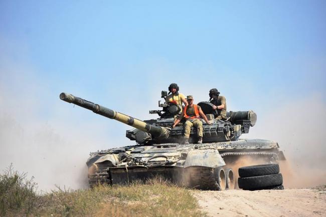 Под Житомиром прошел танковый биатлон среди танковых подразделений десантно-штурмовых войск ВСУ. ФОТО