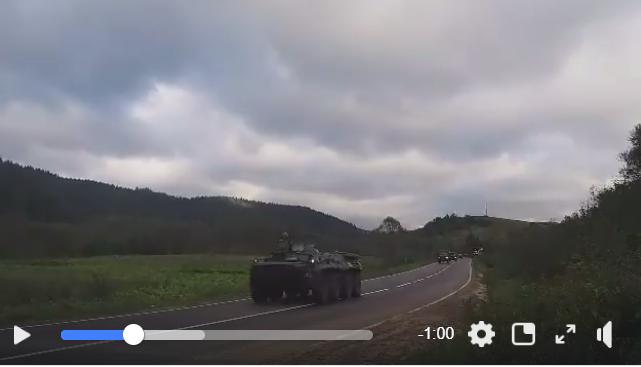 Венгрия доигралась: опубликовано видео движения крупной колонны бронетехники ВСУ в сторону Закарпатья
