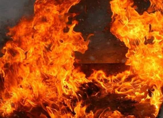 В Донецке произошел мощный пожар, один из районов весь в дыму