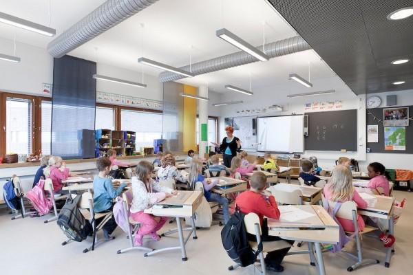 Первоклассники в финской школе