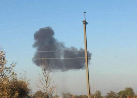 Опубликовали видео падения Су-27