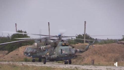 Вертолетные отряды ВСУ по установлению минных полей поддерживают высокую боеготовность. ВИДЕО