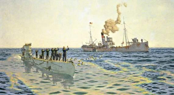Британский траулер против немецкой стальной акулы