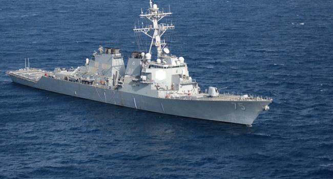 Ракетный эсминец США «Дональд Кук» прибывает в Одессу