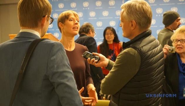 Президент Естонії в ООН: Треба називати речі своїми іменами — у Європі йде війна