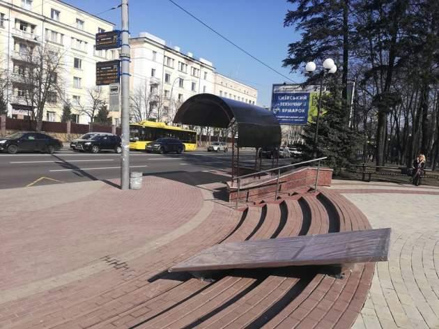 В Киеве открыли сквер имени Немцова. Фото