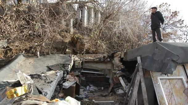 Правый берег Киева сползает в пропасть