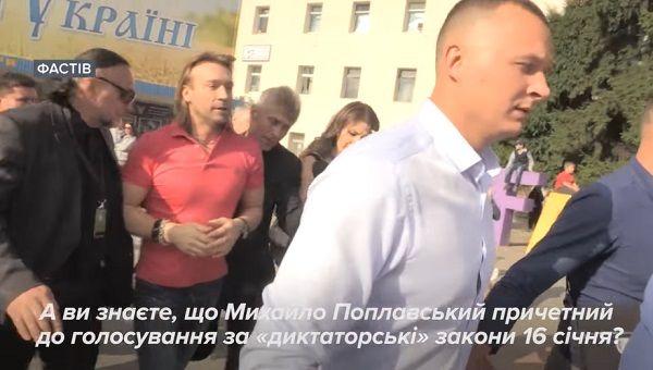 Винник отказался отвечать на вопрос о поддержке Поплавским диктаторских законов