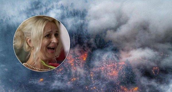 «Месть московским дикарям»: Фарион позлорадствовала пожарам в России