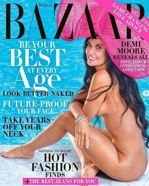Деми Мур сфоткалась для обложки Harper`s Bazaar