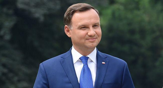 Дуда обвинил Россию в захвате Польши, но собирается выставить счёт Германии за нападение