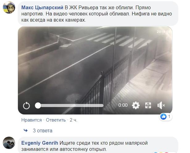 Вандал уничтожает машины в спальном районе Киева: гибнут десятками от кислоты, видео