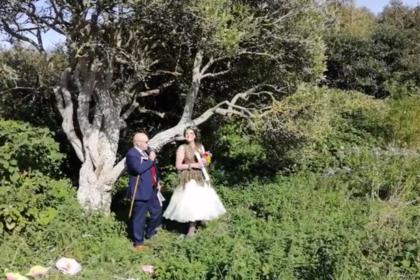 Женщина сыграла свадьбу с деревом: как отреагировала семья невесты и фото «молодоженов»