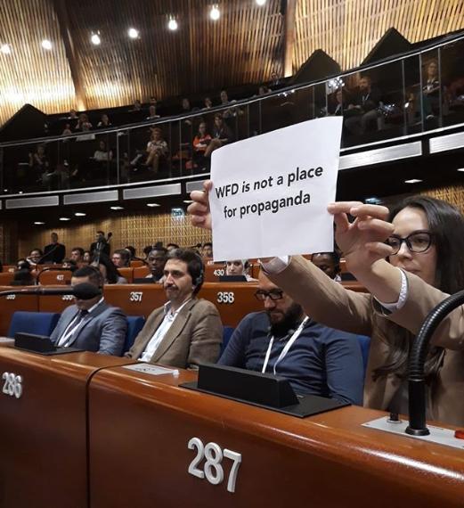 В Совете Европы не дали выступить российской пропагандистке. ВИДЕО