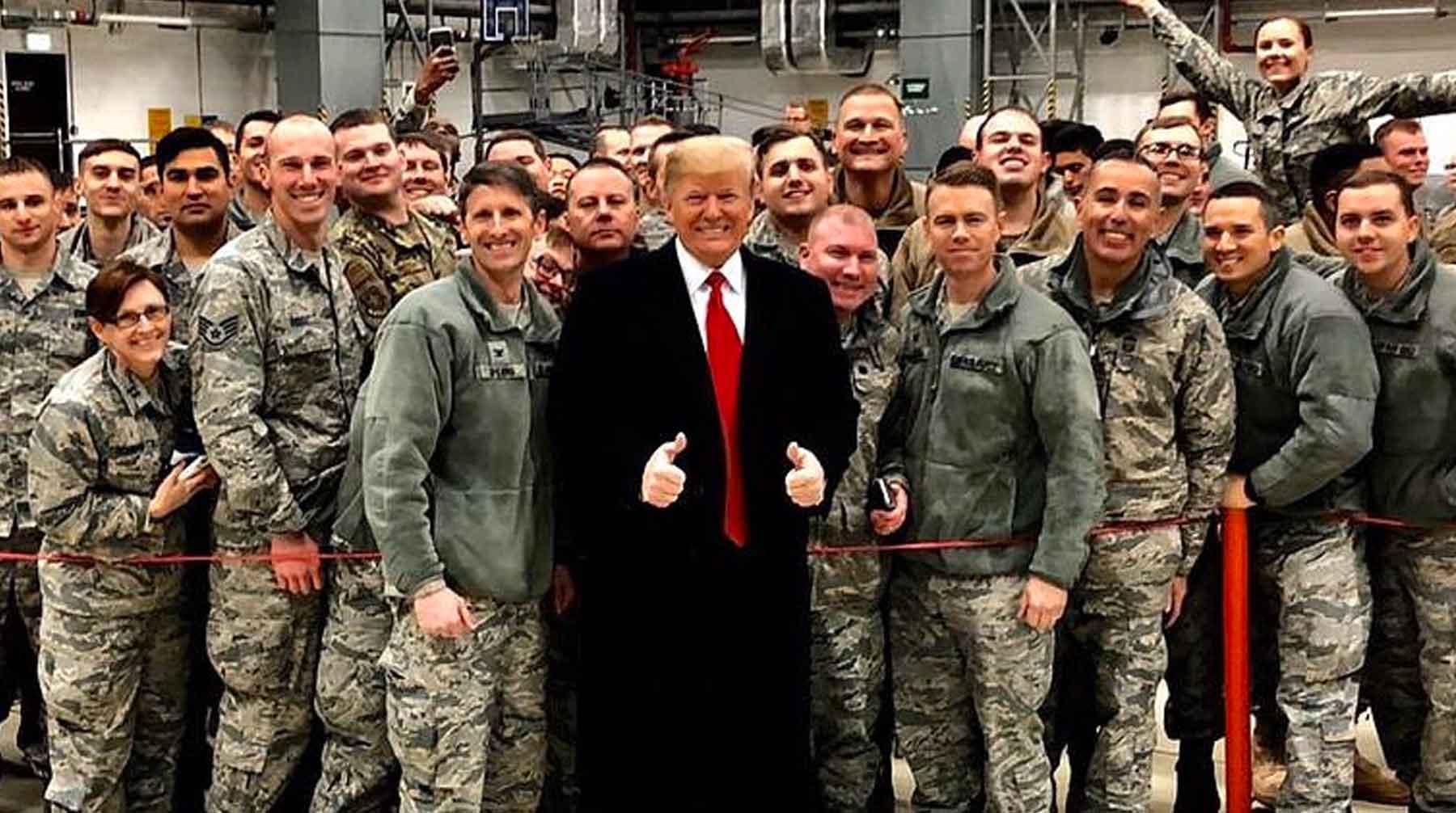 Во время визита в Афганистан с Трампом произошел забавный инцидент