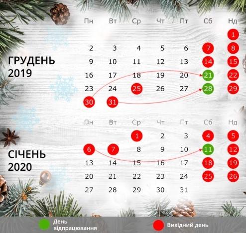 Сколько украинцы будут отдыхать в январе