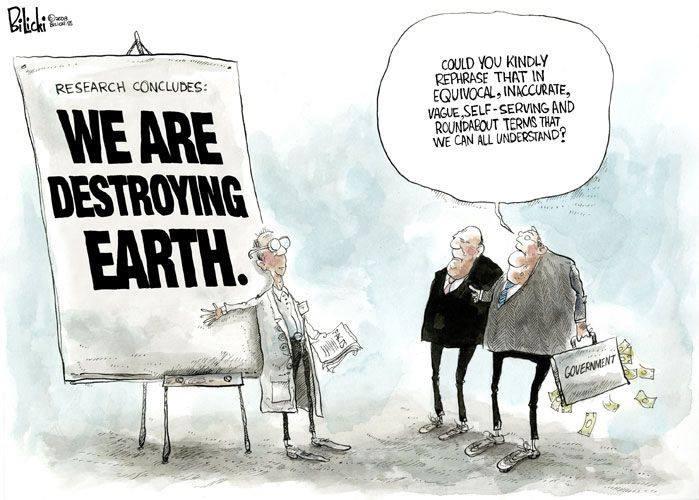 Нынешняя экономическая система — еще один оттенок отрицания изменений климата