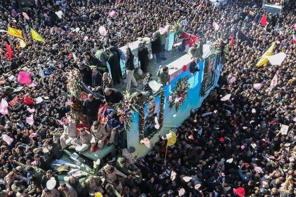Похороны Сулеймани отложены: в давке в Кермани погибло уже более 50 человек. ВИДЕО