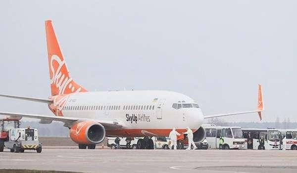 Самолет из Уханя сел в «Борисполе» на дозаправку