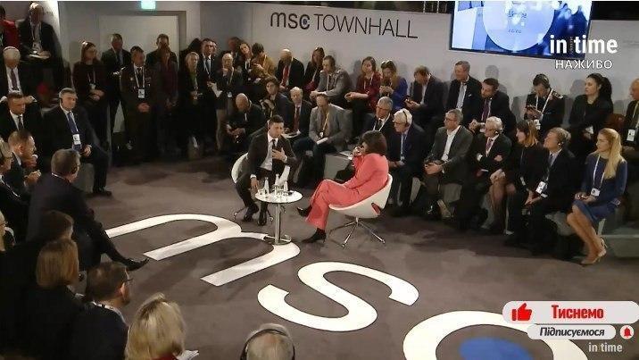Зеленский вызвал смех у участниковМюнхенской конференции