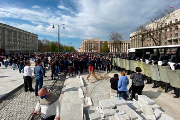 Протесты в РФ: власть попыталась подавить владикавказский Майдан. ВИДЕО