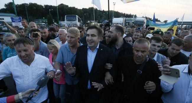Ветеран АТО: как Саакашвили относится к Украине было четко видно хотя бы на примере прорыва границы, или его переговоров с Курченко