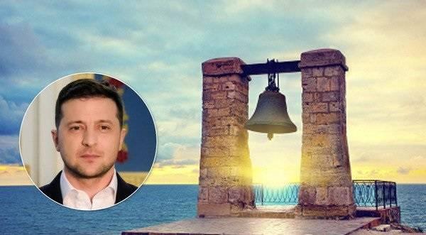 Оккупанты Крыма принялись угрожать Зеленскому из-за его идеи о колоколе, упомянув Порошенко