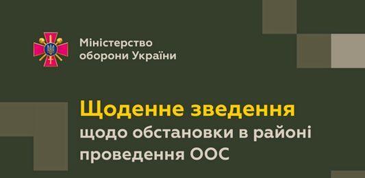 Ситуація в зоні ООС: від початку доби війська РФ 5 разів обстріляли ЗСУ