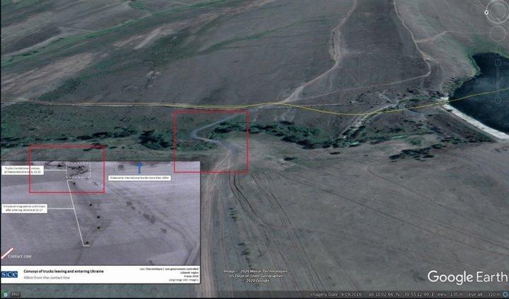 Колона вантажівок з Росії вторгалася на територію України: фото з БПЛА