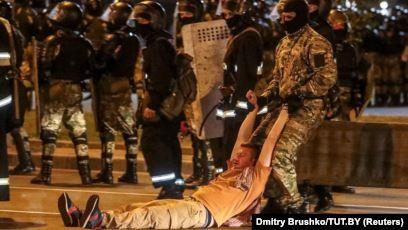 Шокирующие кадры с протестов в Беларуси