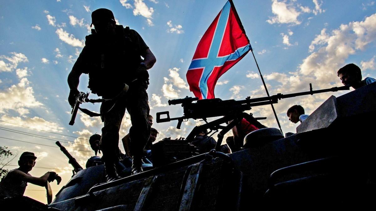 Оккупанты подняли на Донбассе флаг «ненавистной» Америки: подробности и видео