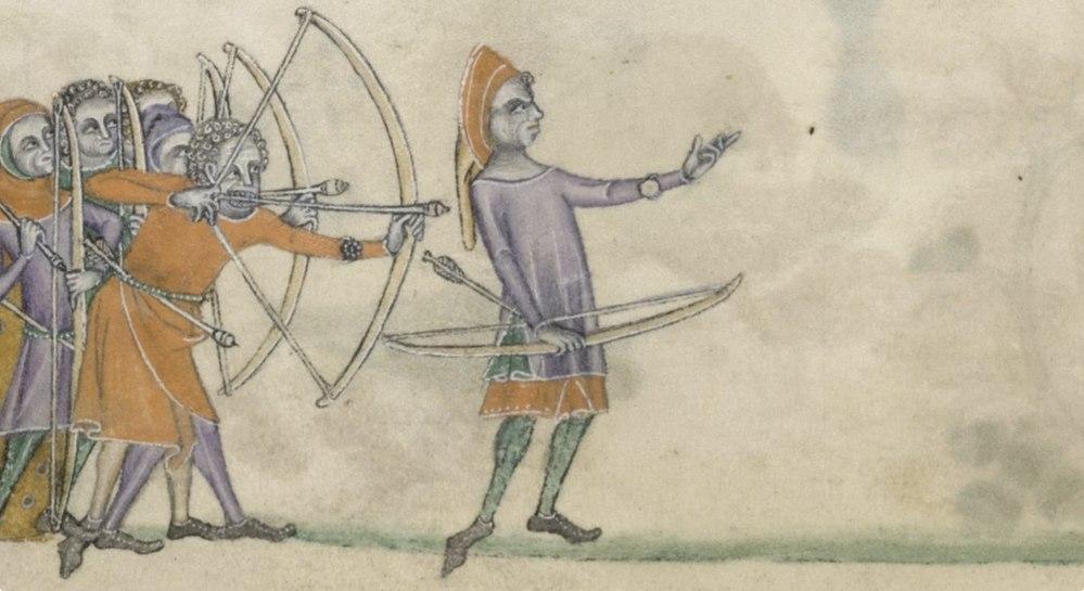 Что английские лучники показывали рыцарям