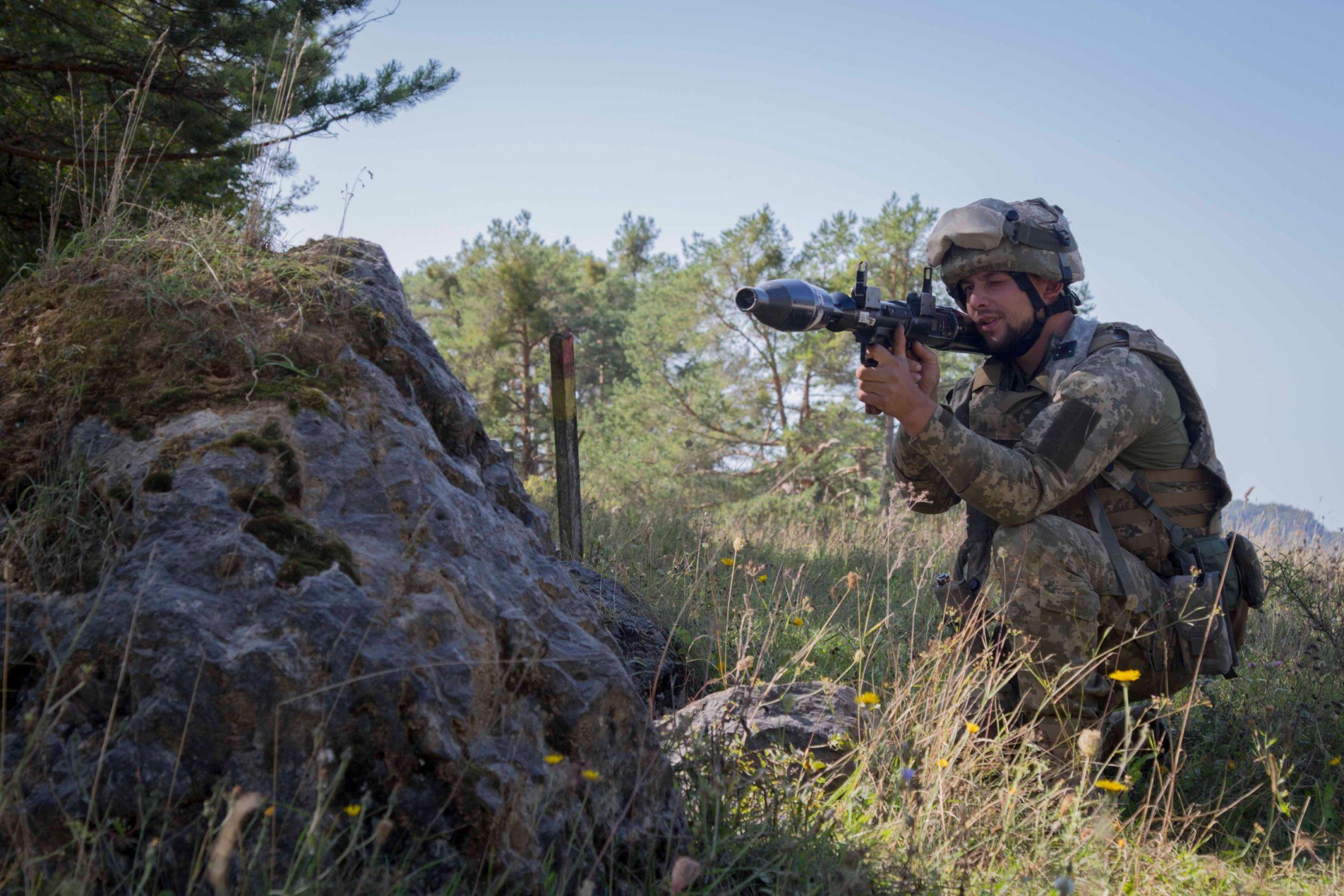 На навчаннях у Німеччині український підрозділ вступив у бій з «противником».