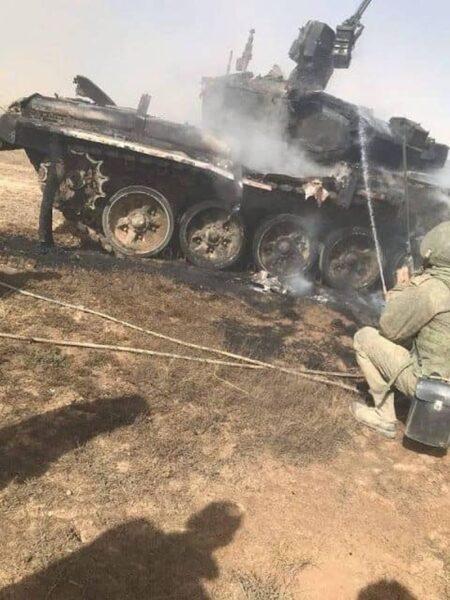 Военные РФ на учениях расстреляли из ПТУР собственный танк Т-90 (ФОТО)
