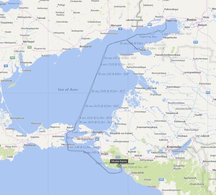 Пригоди круїзного лайнера РФ на Азові: експерт повідомив про дивний маршрут судна