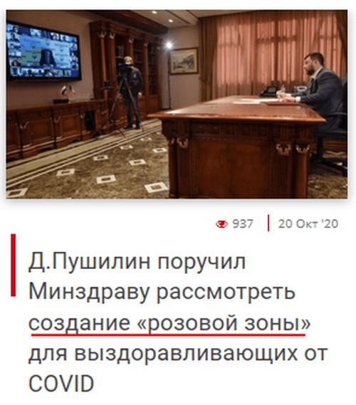 «Розовая зона»: пока в ОРДО от коронавируса умирают люди, главарь «ДНР» выступил со странной инициативой